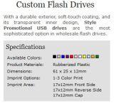 Marchio promozionale su ordinazione della stampa dell'azionamento dell'istantaneo del USB di vendita superiore (ALP-001U)