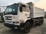 Avant-Soulever-Vidant Japan-PF6-Engine 6*4-LHD-Drive utilisé par 10~20ton/8~10cbm Manuel-Transforment le camion à benne basculante de Nissans Ud