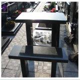 Outdoor 정원을%s 대중적인 Style Shanxi Black Granite Bench
