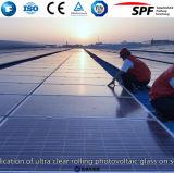 Стекло низкой дуги утюга Tempered солнечное для панели PV