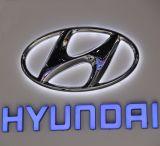 Backlit рекламируя письма знака и имени логоса тавра автомобиля
