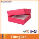 Rectángulo de empaquetado de sellado caliente del conjunto de la insignia del regalo rojo del papel