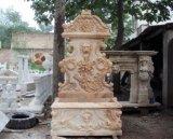 Leão em mármore Escultura Fonte de parede (FNT070)