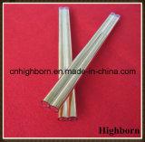 A resistência ao calor Coatd Ouro Twin tubo tubo de vidro de quartzo