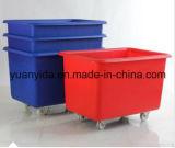 4動かされたプラスチックパレット容器