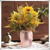 縦の穀物が付いている媒体によって着色される花つぼ
