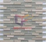 Grãos de madeira cinza com mármore mosaico de vidro (CFS712)