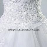 Новый нижний кружево свадебные платья Strapless элегантной столовой свадьбы