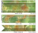 Perfil de la pared para la hoja de mármol envuelta superficie del color S123 de la TV Frm