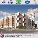 多階のプレハブの鋼鉄構造家屋か構築