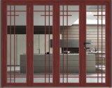 Fuerte exterior de aluminio doble acristalamiento Bi puerta plegable