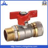 Mf Compression Ends válvula de esfera de latão com ISO228 (YD-1042)