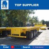 Het Voertuig van de titaan - 40FT Flatbed Capaciteit van de Lading van de Structuur van het Frame van de Aanhangwagen van de Vrachtwagen