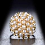 Новые поступления устраивающих желтого золота Pearl свадебные кольца