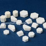 Telha cerâmica do hexágono da alumina de Chemshun como o desgaste - forros resistentes