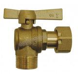 Mutteren-Messingwinkel-Wasser-Messinstrument-Kugelventil m-/Schwenker