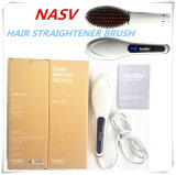 A escova mágica quente 75W do Straightener do cabelo da estrela da beleza de 2016 Nasv elétrica endireita a escova com Rotataing cerâmico