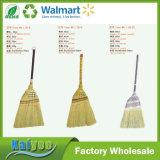 Vassoura de bambu de grama dourada com cor diferente Maçã de madeira longa