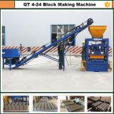 Bloc Qt4-24 creux concret faisant à machine la brique pleine faisant des machines