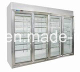 Commode Store Clear Glass Door Refrigerator pour boissons et nourriture