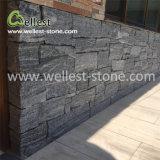 別荘の塀のコラムの壁のクラッディングの灰色の珪岩のFieldstoneは石を緩める