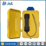 Teléfono de servicio pesado con luz LED, teléfonos de emergencia exterior, SIP Túnel Telehone intemperie IP67.