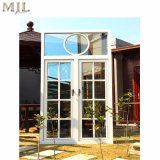 Neuer Gitter-Entwurfs-hölzernes plattiertes Aluminiumprofil-Flügelfenster Windows