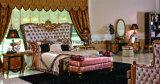 E61 классической мебелью с одной спальней цельной древесины с золотые украшения