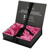 Contenitore di regalo impaccante di estensione rigida di lusso su ordinazione dei capelli con il nastro