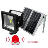 원격 제어 IP65 태양 에너지 LED 램프 옥외 정원 안전 개골창 반점 LED 플러드 빛