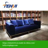 Estilo de vida americano novo mobiliário de Quarto Azul Tufados Sofa Hotel / Home