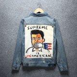 Джинсовая куртка 100% хлопок мужчин Жан