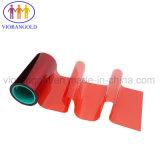 25um/36um/50um/75um/100um/125um泡はさみ金のためのシリコーン油が付いている赤いペットはく離ライナー