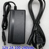 12V 2A 24W Adaptador de corriente Portátil Adaptador
