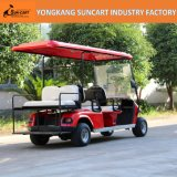 贅沢な赤いカラー電気6人の乗客のゴルフカート、観光のゴルフカート、販売のための安いゴルフカート