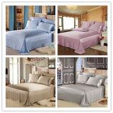 4 conjunto del lecho del blanqueo de algodón de los muebles del hotel de la estrella pequeño Embriodery 60 X40