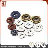 方法円形の2穴カラー一致の金属のジャケットボタン