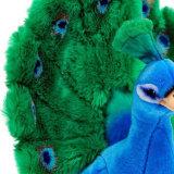 Juguete relleno aduana de la felpa del pavo real