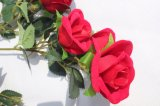 결혼식 훈장을%s 실크 빨간 로즈 인공 꽃 가짜 꽃