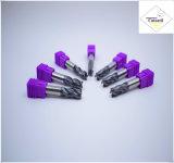 Cutoutil  4本の歯35° 螺旋形の切口の鋼鉄D14 35*80*14 固体炭化物の端製造所のツール