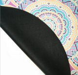 Напечатанная цифров пляжа циновки йоги печатание лотоса циновка круглого круглая