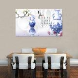 La pintura china impresa Digitaces azul y blanca de la porcelana para la decoración casera