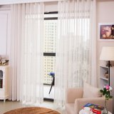 Tissu fin de rideau en voile tissé par toile attrayante (18F0110)