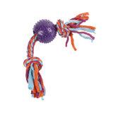 مؤذ [بفك] كرة بلاستيكيّة مع قطن حبل كلب مضغ لعب
