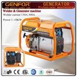 販売のためのタイプ新しいデザイン電気単一フェーズ200Aガソリン溶接工の発電機を開きなさい