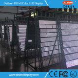 Schermo parteggiato esterno di HD doppio LED per la pubblicità del basamento della via