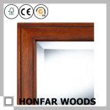 Frame de madeira do espelho de Brown do retângulo para a decoração da parede da pensão