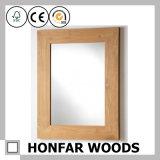 مستطيل [بروون] خشبيّة مرآة إطار لأنّ نزل جدار زخرفة
