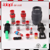 HDPEのMicroductのまっすぐなコネクター、試供品、HDPEマイクロダクト端のカプラー、ダクト7/3.5mm、