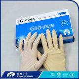 Handschoenen van het Onderzoek van het Latex van het Poeder van de Lage Prijs van de goede Kwaliteit de Vrije in Maleisië